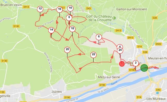 Parcours 24 km